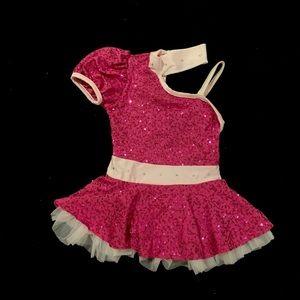 Pink Sequin Jazz Costume | Small Child | Art Stone